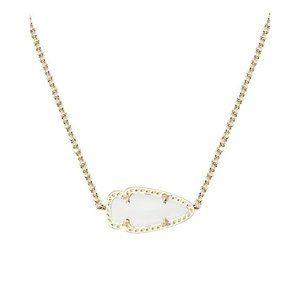 Kendra Scott White Skylie Gold Arrow Necklace Rare